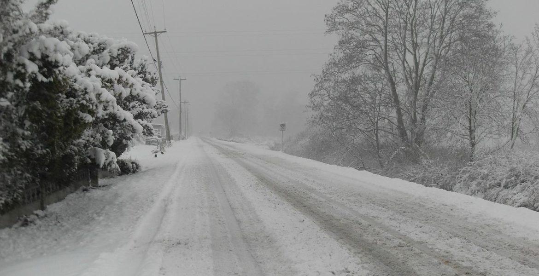 Straße an einem Wintertag - Winterderpression